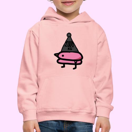 Squished Pinkguin - Premium hættetrøje til børn
