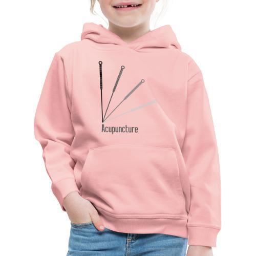 Acupuncture Eventail (logo noir) - Pull à capuche Premium Enfant