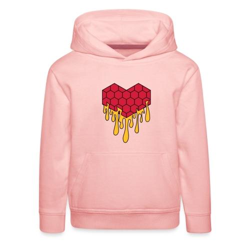 Honey heart cuore miele radeo - Felpa con cappuccio Premium per bambini