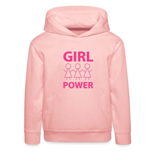 18 - Girl Power 001 - Premium hættetrøje til børn