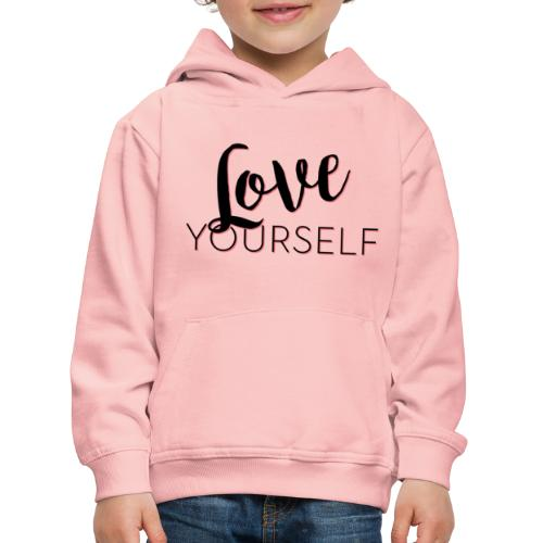 Love Yourself -Schriftzug Pascal Voggenhuber - Kinder Premium Hoodie