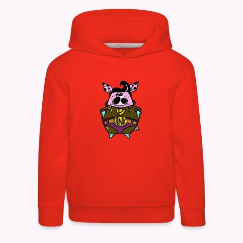 super oink col - Felpa con cappuccio Premium per bambini