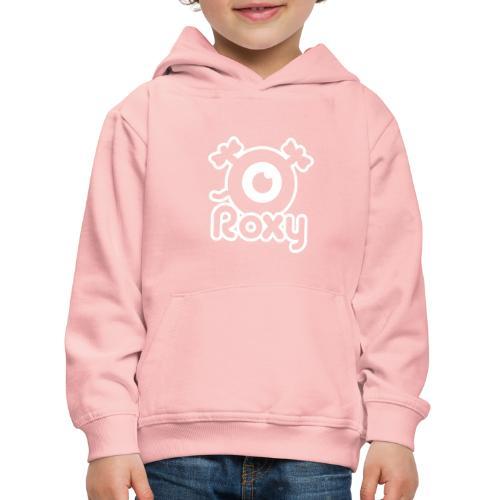 Roxy Label (White) - Pull à capuche Premium Enfant