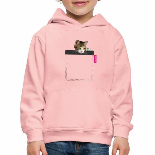 Kätzchen in Brusttasche - Kinder Premium Hoodie