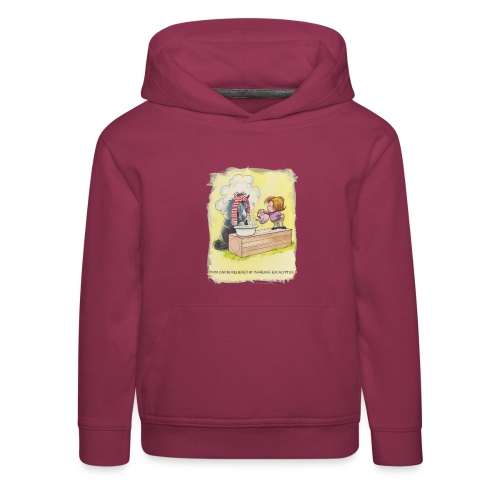 Thelwell Cartoon Pony inhaliert Eukalyptus - Kinder Premium Hoodie