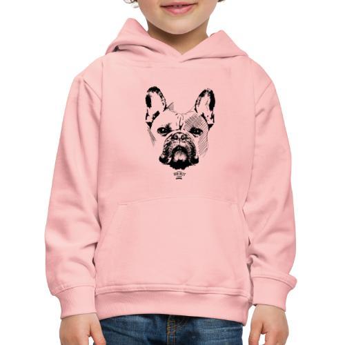 Französische Bulldogge Sketch - Kinder Premium Hoodie