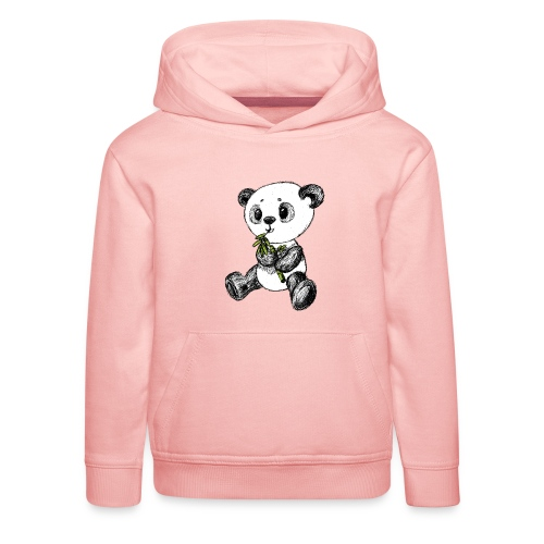 Panda bear colored scribblesirii - Kids' Premium Hoodie