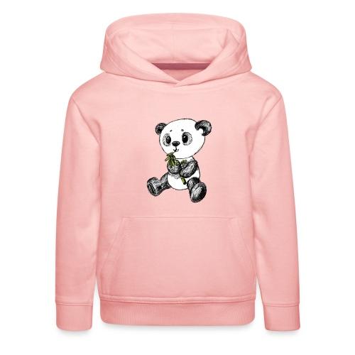 Panda bjørn farvet scribblesirii - Premium hættetrøje til børn