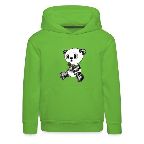 Panda Karhu värillinen scribblesirii - Lasten premium huppari