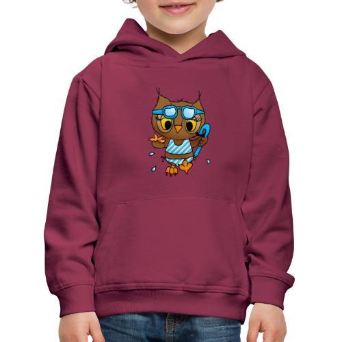 eule schnorcheln - Kinder Premium Hoodie
