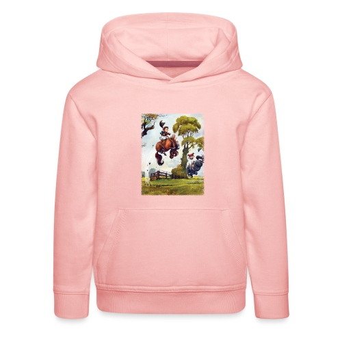 PonyRodeo Thelwell Cartoon - Kids' Premium Hoodie