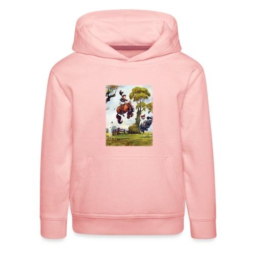 Thelwell Cartoon Pony Rodeo - Kinder Premium Hoodie
