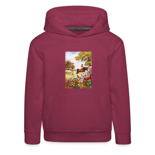Thelwell Cartoon Pony Turnier - Kinder Premium Hoodie