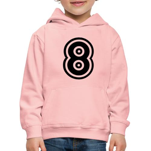 cool number 8 - Kinderen trui Premium met capuchon