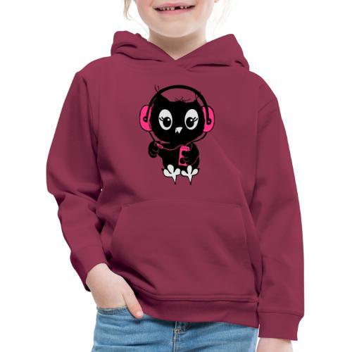 Eule Musik 3farbig - Kinder Premium Hoodie