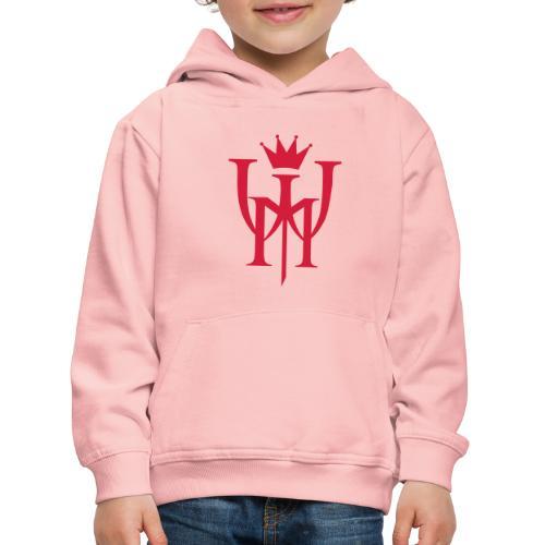 Logo MW Czerwone - Bluza dziecięca z kapturem Premium