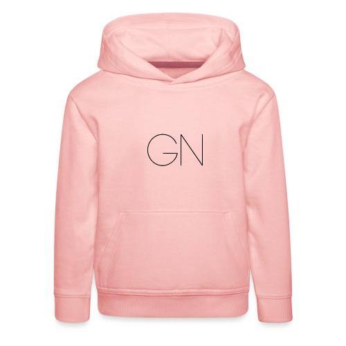 Långärmad tröja GN slim text - Premium-Luvtröja barn