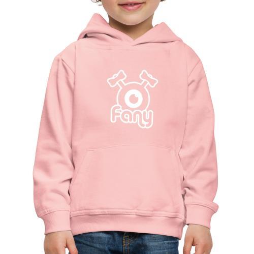 Fany Label (White) - Pull à capuche Premium Enfant