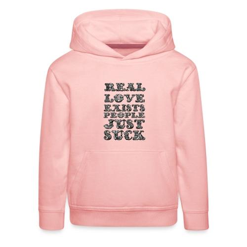 Real Love Exists REBEL INC. - Bluza dziecięca z kapturem Premium