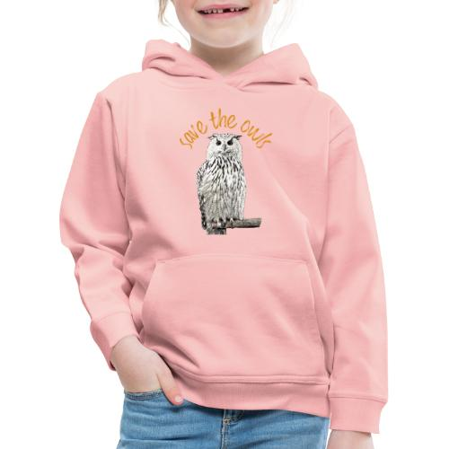 Snowy Owl Save the Owls Photo Art - Kids' Premium Hoodie