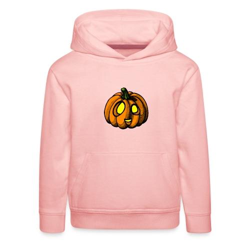 Pumpkin Halloween scribblesirii - Kids' Premium Hoodie