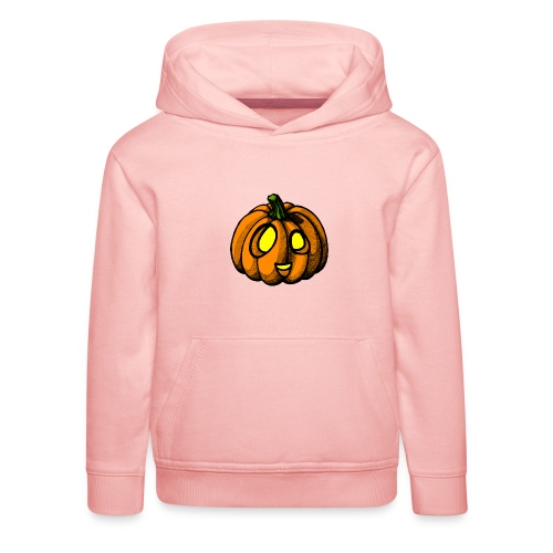Pumpkin Halloween scribblesirii - Premium hættetrøje til børn