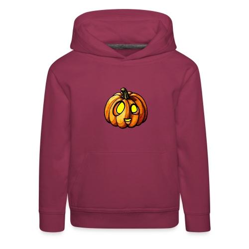 Pumpkin Halloween watercolor scribblesirii - Lasten premium huppari