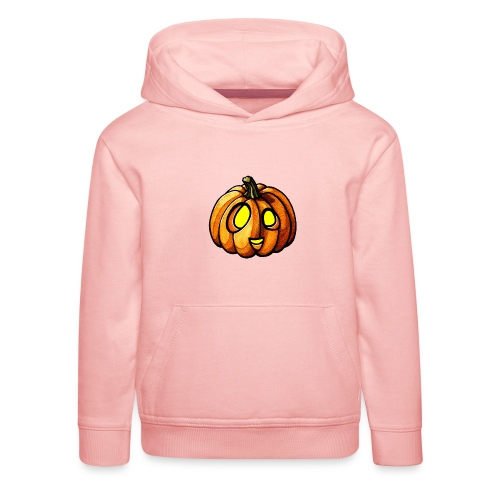 Pumpkin Halloween watercolor scribblesirii - Kids' Premium Hoodie