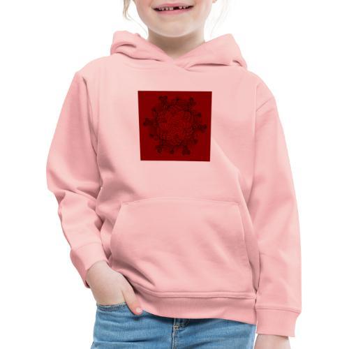 Mandala, rot-schwarz - Kinder Premium Hoodie