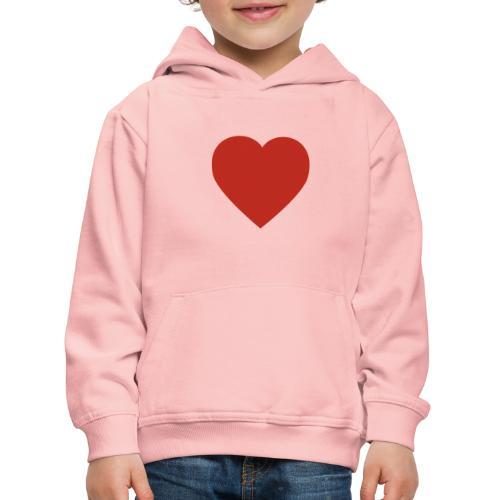 Herz Liebe - Kinder Premium Hoodie