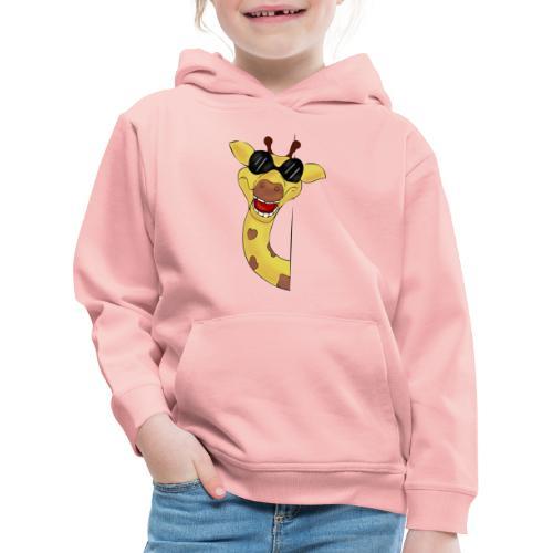 Giraffa - Felpa con cappuccio Premium per bambini