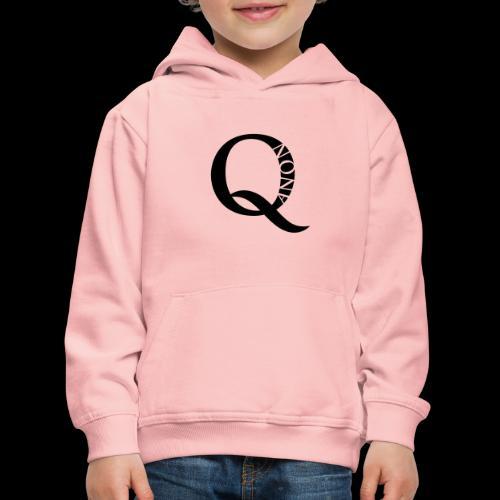 Q Anon Q-Anon Original Logo - Kinder Premium Hoodie