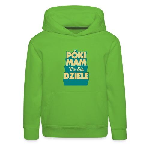 poki - Bluza dziecięca z kapturem Premium