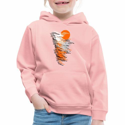 Black And Orange - Kids' Premium Hoodie