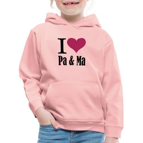 i love pa ma - Kinderen trui Premium met capuchon