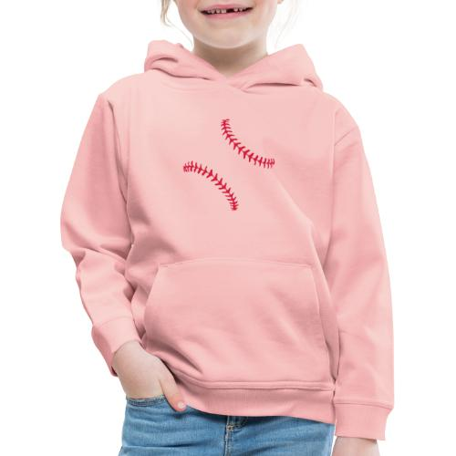 Realistic Baseball Seams - Kids' Premium Hoodie