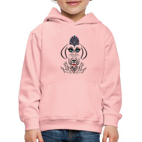 Hipster Dog Girl by T-shirt chic et choc - Pull à capuche Premium Enfant