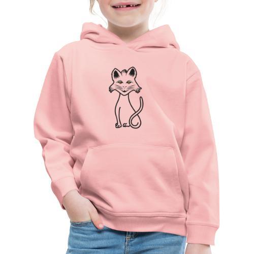 gatto nero - Felpa con cappuccio Premium per bambini