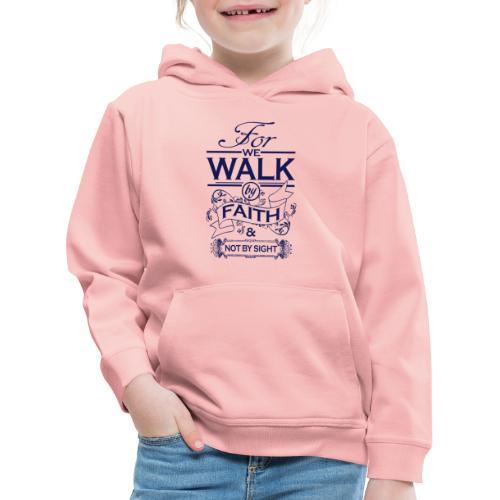 walk navy - Kids' Premium Hoodie