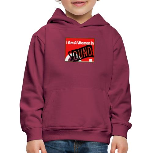 I am a woman in sound - red - Kids' Premium Hoodie