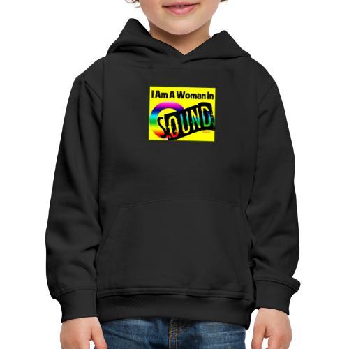 I am a woman in sound - rainbow - Kids' Premium Hoodie