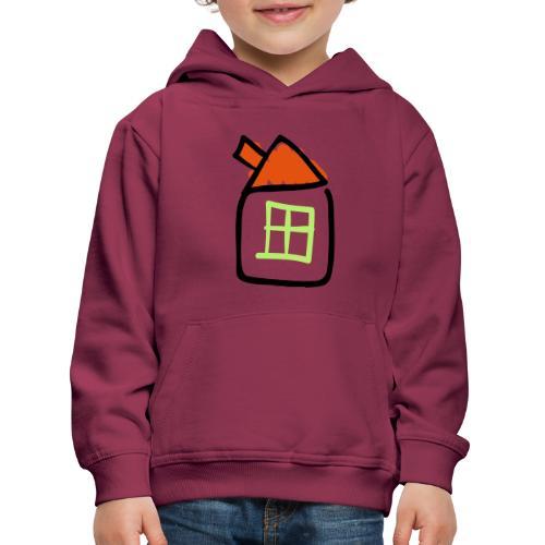 House Line Drawing Pixellamb - Kinder Premium Hoodie