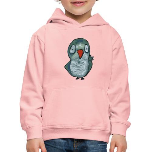 green parrot - Felpa con cappuccio Premium per bambini