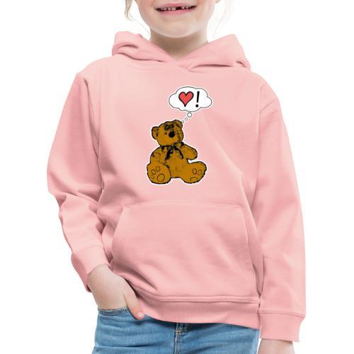 Teddy Bear Love - Felpa con cappuccio Premium per bambini