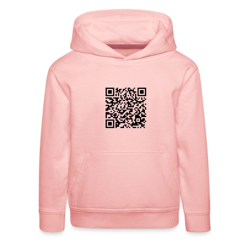 static qr code without logo2 png - Felpa con cappuccio Premium per bambini
