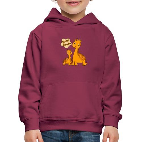 Mami Jirafa - Sudadera con capucha premium niño