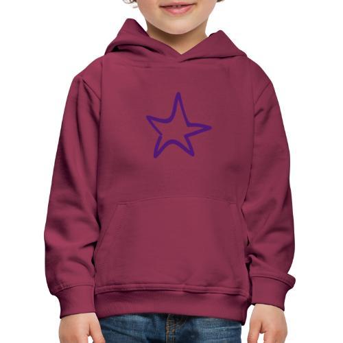 Star Outline Pixellamb - Kinder Premium Hoodie