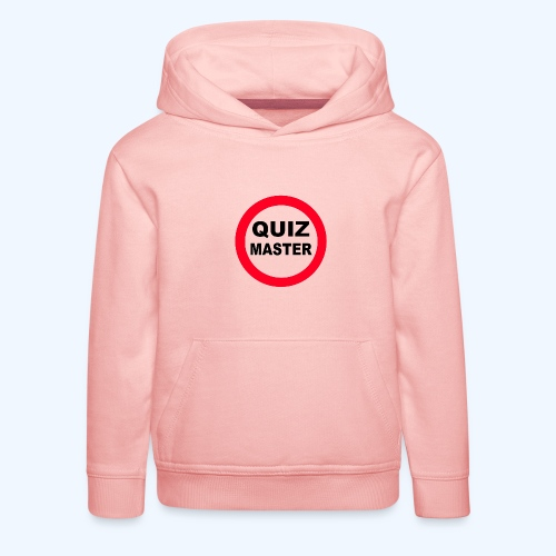 Quiz Master Stop Sign - Kids' Premium Hoodie