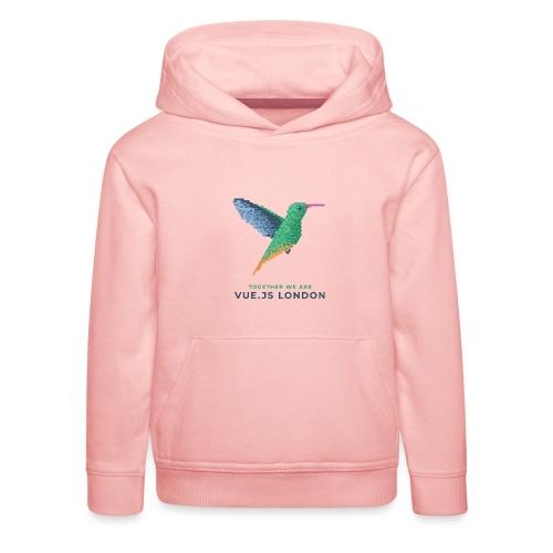 Hummingbird - Together we are Vue.js London - Kids' Premium Hoodie