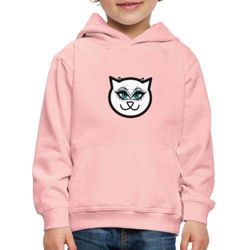 Hipster Cat Girl by T-shirt chic et choc - Pull à capuche Premium Enfant